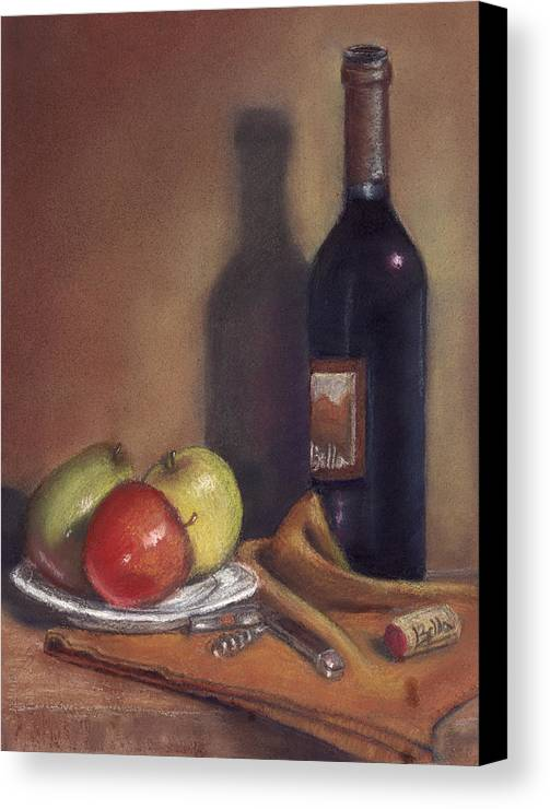 Wine Canvas Print featuring the painting Bella Wine Tasting by Ellen Minter