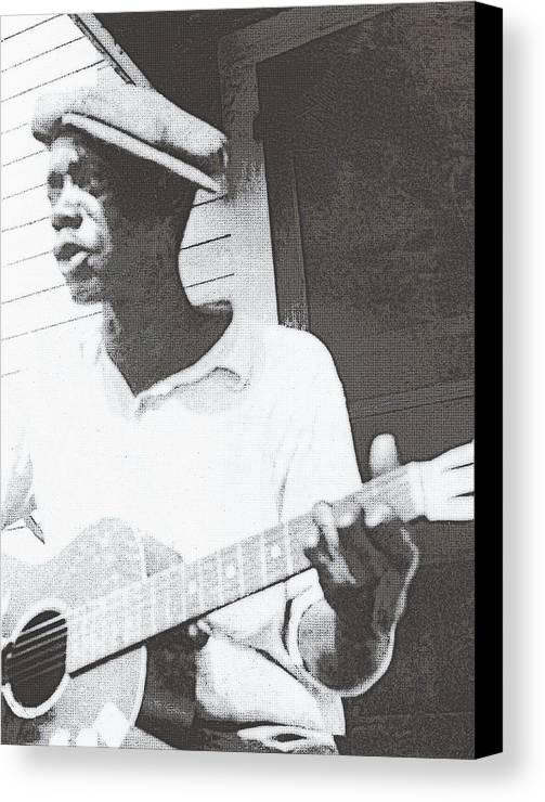 Guitar Canvas Print featuring the photograph Bill Tatnall 1935 by Daniel Hagerman