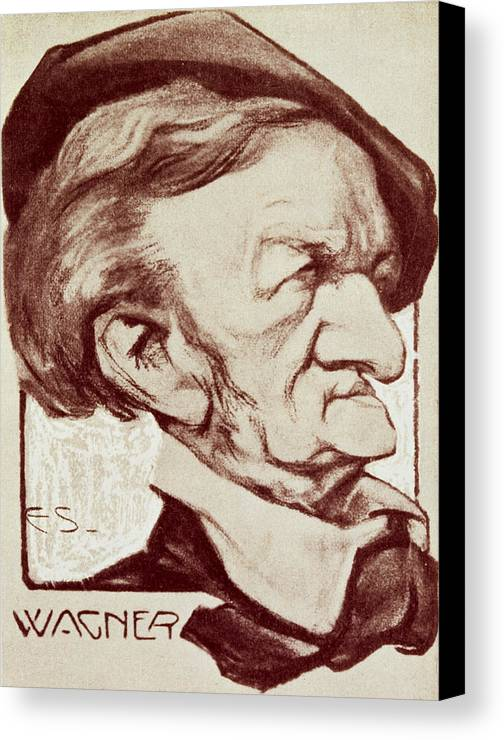 Crt Canvas Print featuring the drawing Caricature Of Richard Wagner by Anonymous