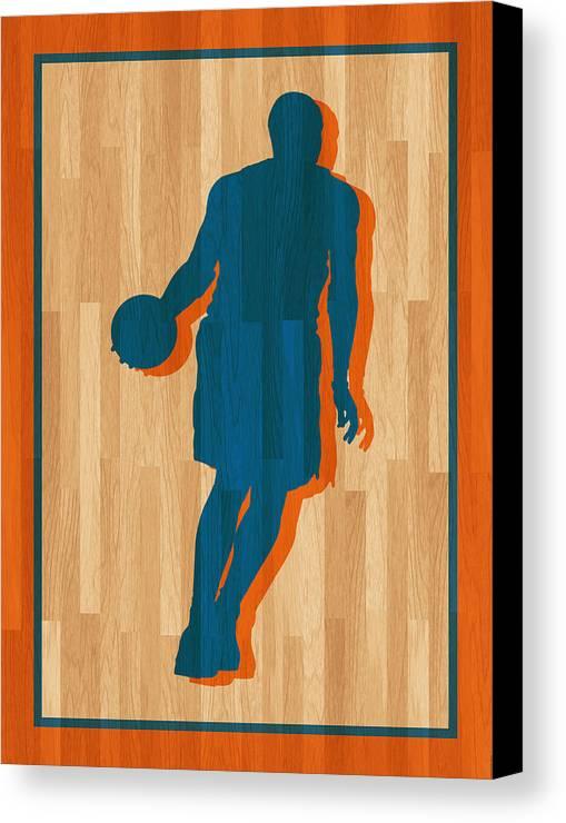 Anthony Canvas Print featuring the photograph Carmelo Anthony New York Knicks by Joe Hamilton