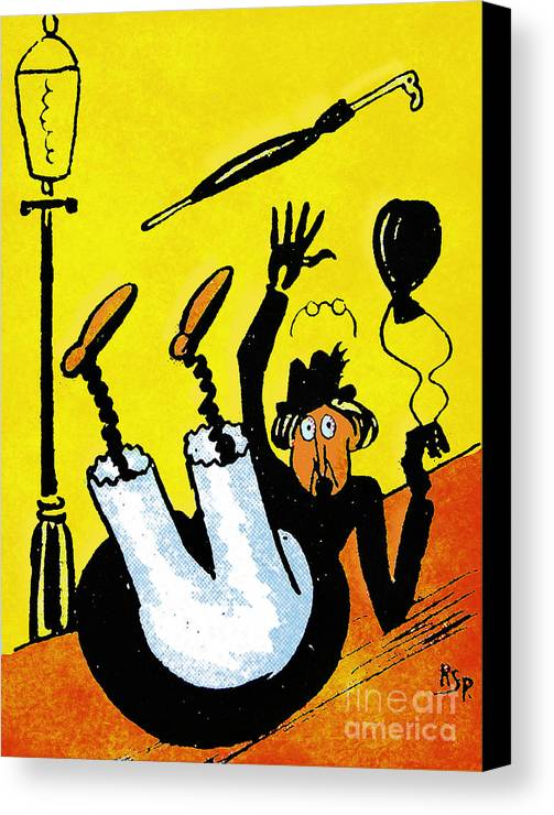 Artist Canvas Print featuring the painting Cartoon 07 by Svetlana Sewell
