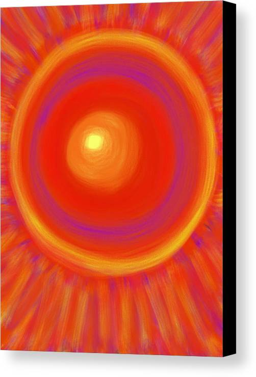 Sun Canvas Print featuring the painting Desert Sunburst by Daina White