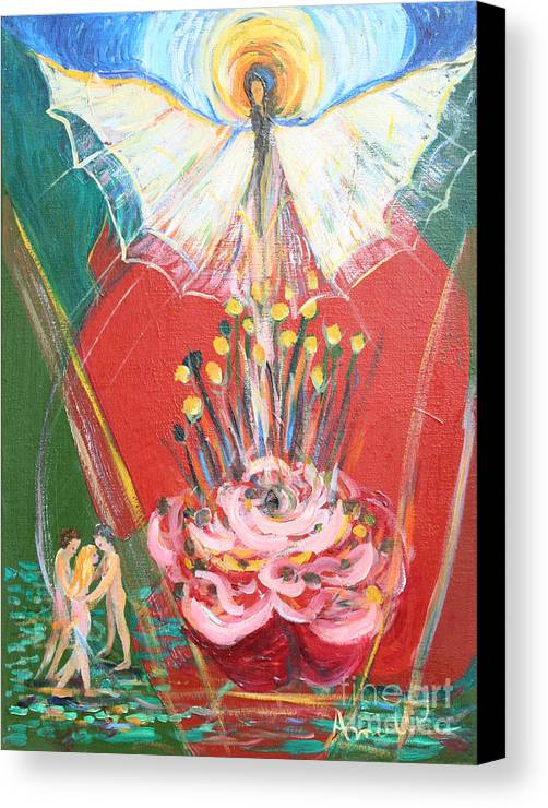 Avonelle Canvas Print featuring the painting E R A 1974 by Avonelle Kelsey