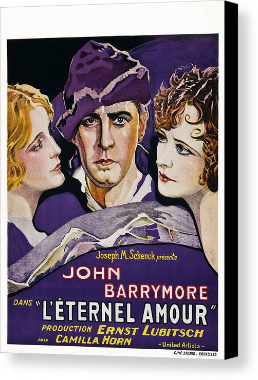 1920s Movies Canvas Print featuring the photograph Eternal Love Aka Leternel Amour, Center by Everett
