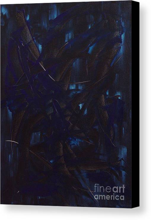 Abstract Canvas Print featuring the painting Expectations Blue by Dean Triolo