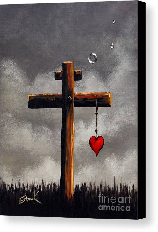 God Canvas Print featuring the painting Grace Lives Here By Shawna Erback by Shawna Erback