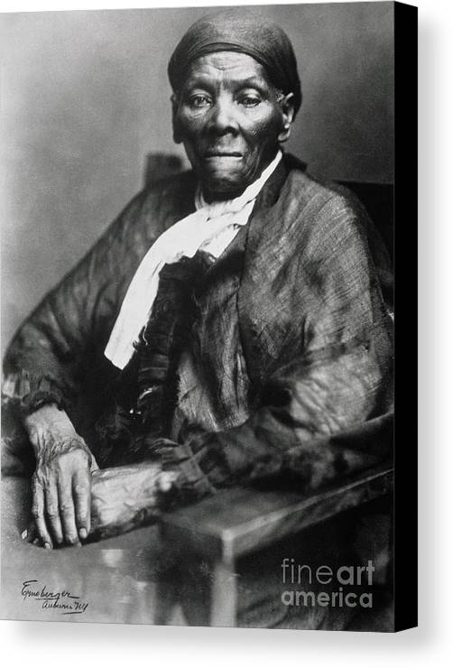 Female Canvas Print featuring the photograph Harriet Tubman by American School