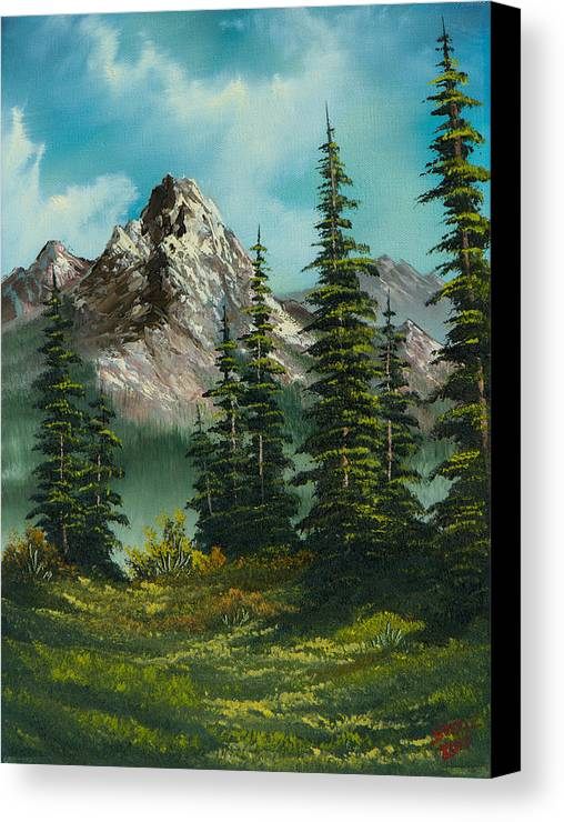 Landscape Canvas Print featuring the painting High Meadow by C Steele
