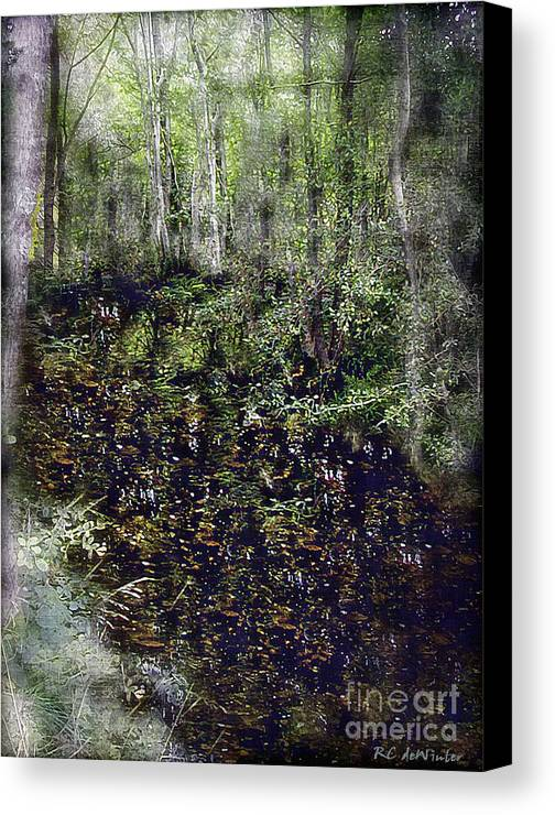 Forest Canvas Print featuring the painting Jack Kell's Woods by RC DeWinter