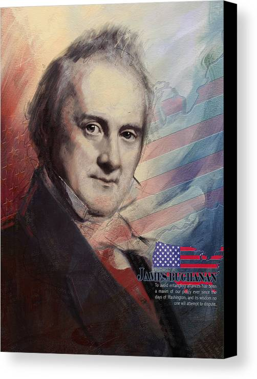 James Buchanan Canvas Print featuring the painting James Buchanan by Corporate Art Task Force