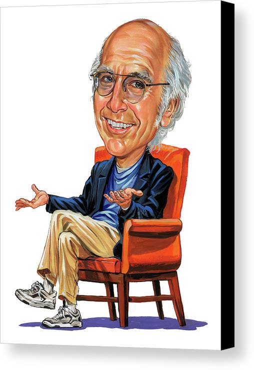 Larry David Canvas Print featuring the painting Larry David by Art