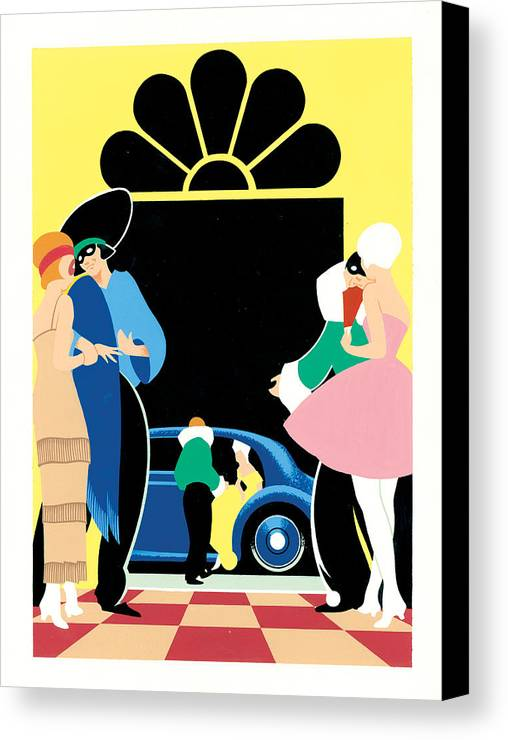 Adult Canvas Print featuring the photograph Masked Ball by Brian James
