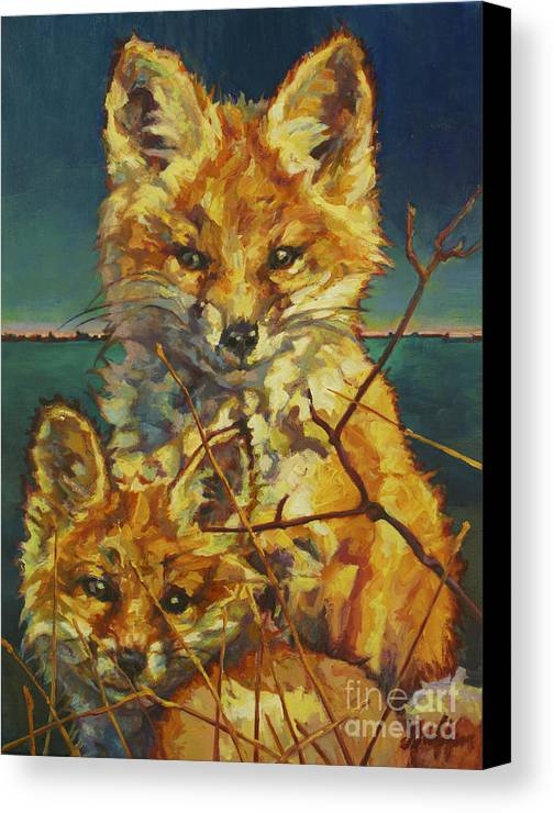 Patricia A Griffin Canvas Print featuring the painting Mel And Todd by Patricia A Griffin