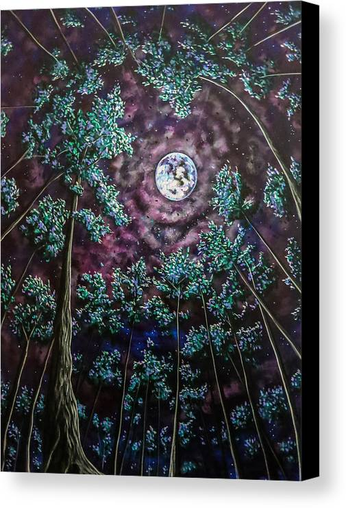 Contemporary Canvas Print featuring the painting Midsummer Night's Dream by Joel Tesch