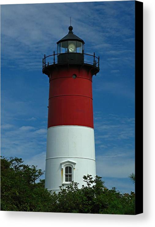 Lighthouse Canvas Print featuring the photograph Nauset Beach Lighthouse by Juergen Roth