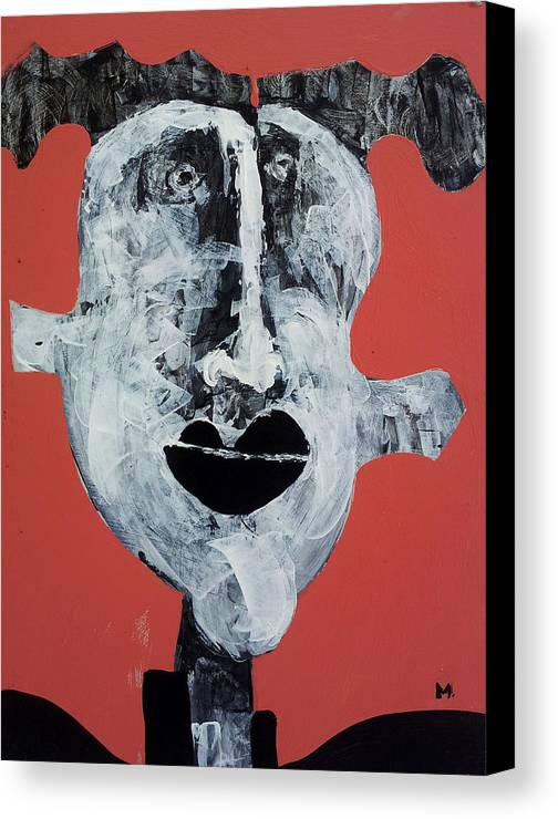 Face Canvas Print featuring the painting Piscis No 7 by Mark M Mellon