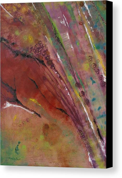 Purple Haze Canvas Print featuring the painting Purple Haze by Denise C Peat