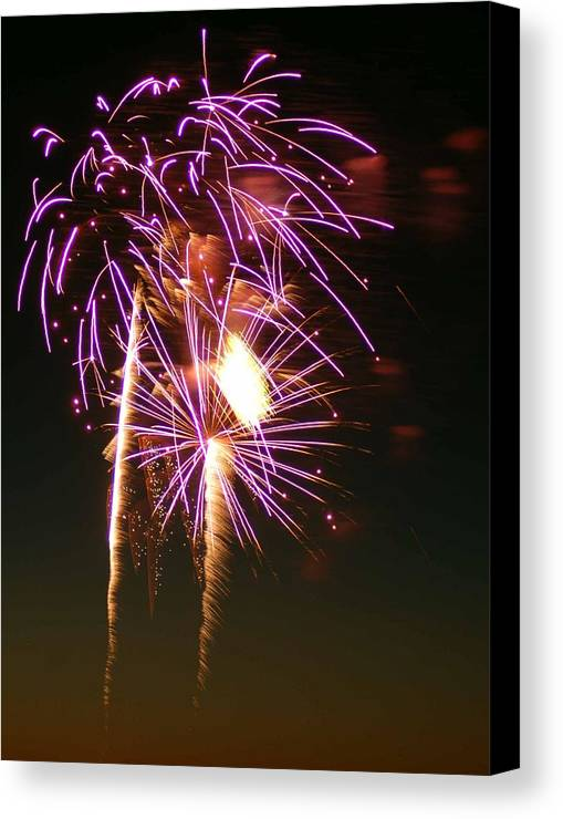 Fireworks Canvas Print featuring the photograph Purple Trees by Optical Playground By MP Ray