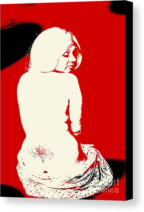 People Canvas Print featuring the photograph red by Grant Dring