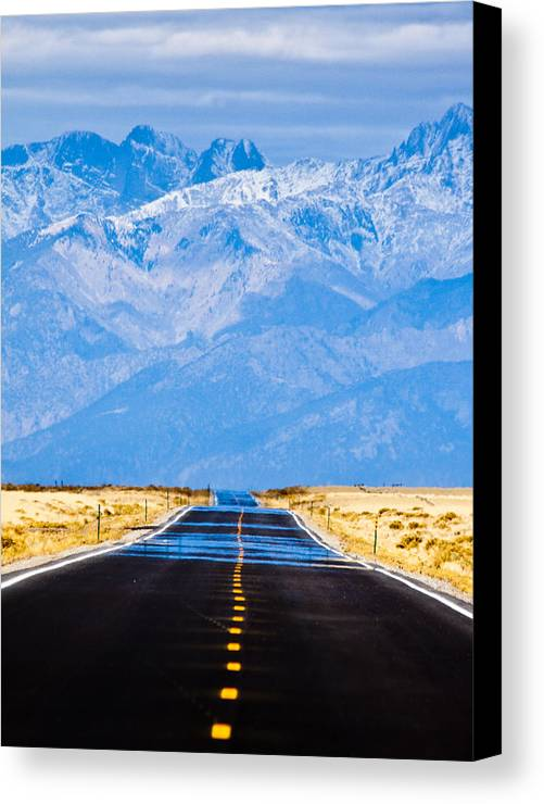 Mountains Canvas Print featuring the photograph Road To The Mountains by Alexis Birkill