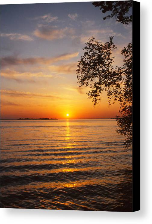 Sunset Canvas Print featuring the photograph Saint Lawrence River Sunset V by Brian Lucia