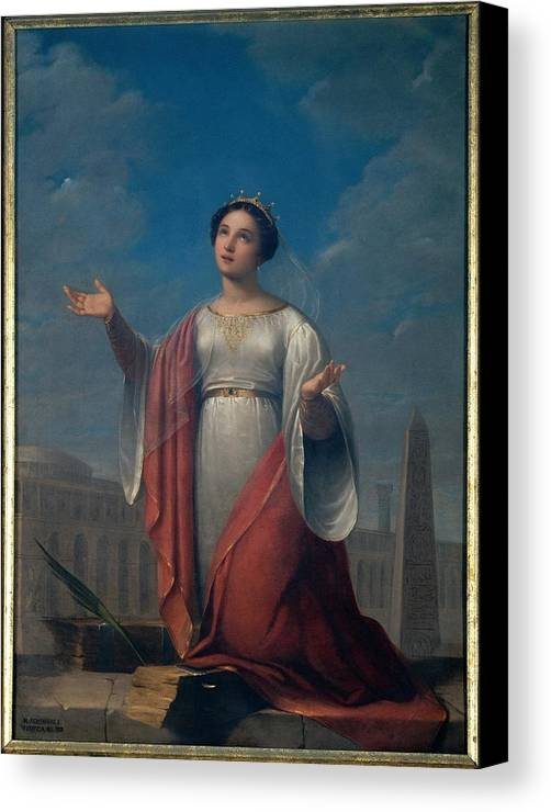 Catherine Canvas Print featuring the photograph Schiavoni Natale, St Catherine, 1828 by Everett
