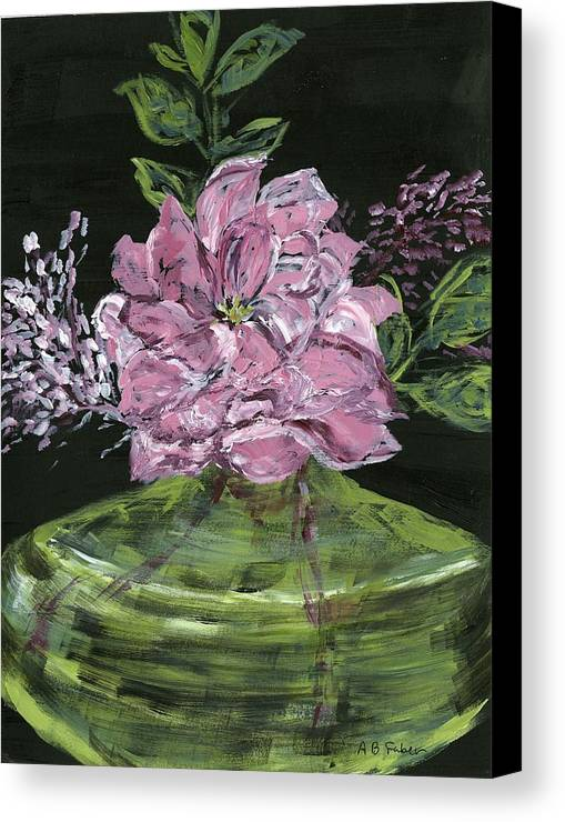 Flower Canvas Print featuring the painting Second Hand Rose by Alice Faber