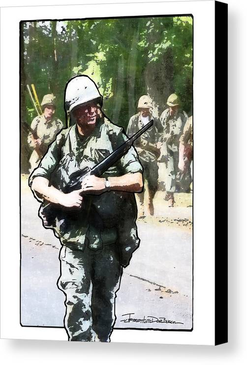 Army Canvas Print featuring the painting Sentry by Jerrett Dornbusch