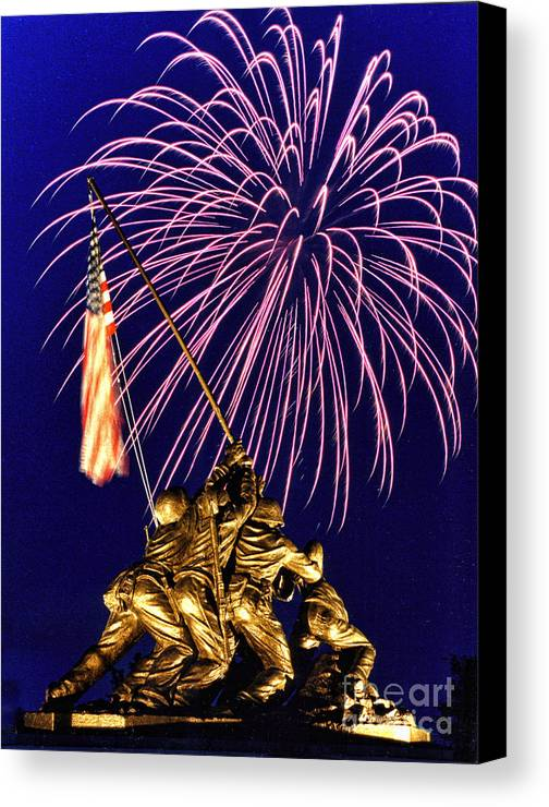 United States Marine Corps Canvas Print featuring the photograph Some Gave All by Scott Hansen