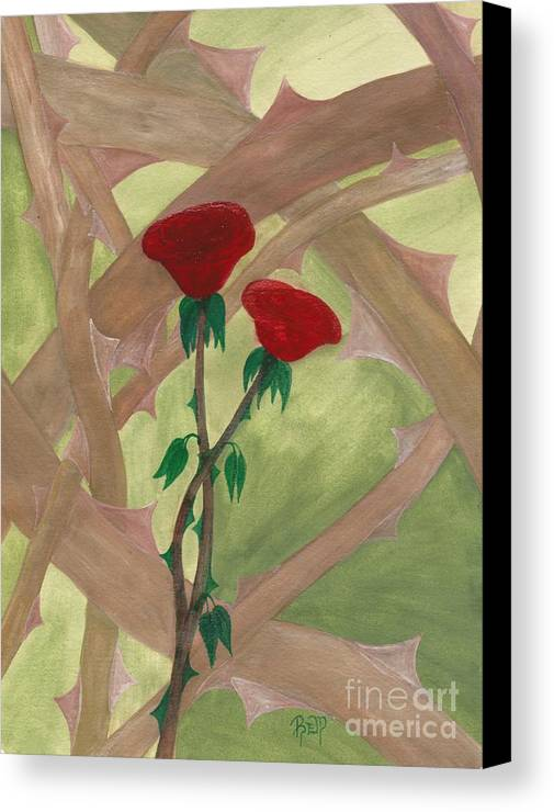 Roses Canvas Print featuring the painting Something Simple by Robert Meszaros