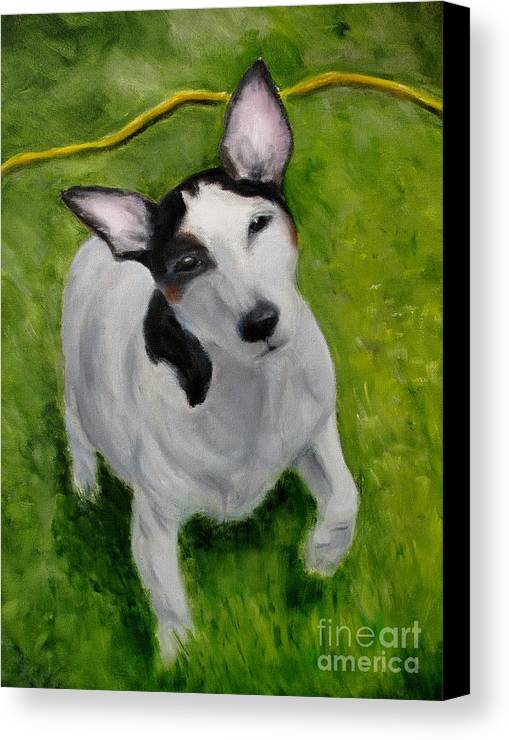 Dog Canvas Print featuring the painting Sparky by Osborne Lorlinda