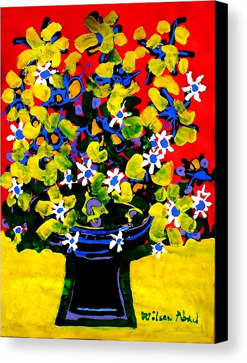 Summer Canvas Print featuring the painting Summer Bouquet by Wilson Abad
