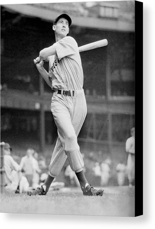 Ted Canvas Print featuring the photograph Ted Williams Swing by Gianfranco Weiss