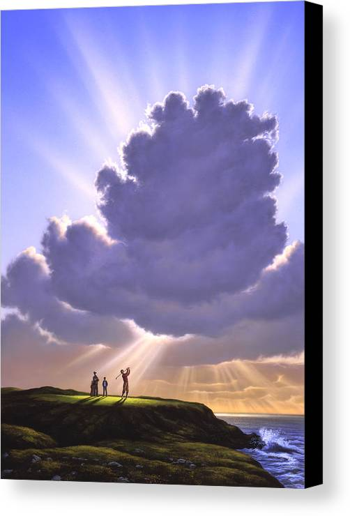 Golf Canvas Print featuring the painting The Legend Of Bagger Vance by Jerry LoFaro