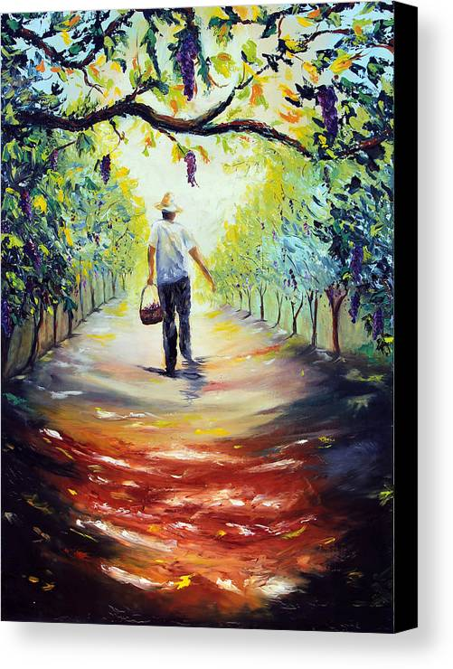 Winery Canvas Print featuring the painting The Vintner by Meaghan Troup