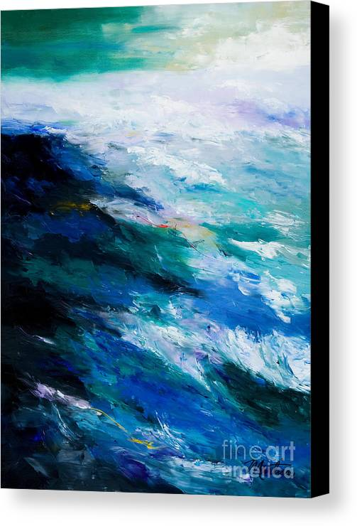 Seascape Canvas Print featuring the painting Thunder Tide by Larry Martin