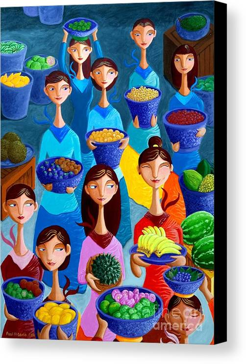 Fruits Canvas Print featuring the painting Tutti Frutti by Paul Hilario