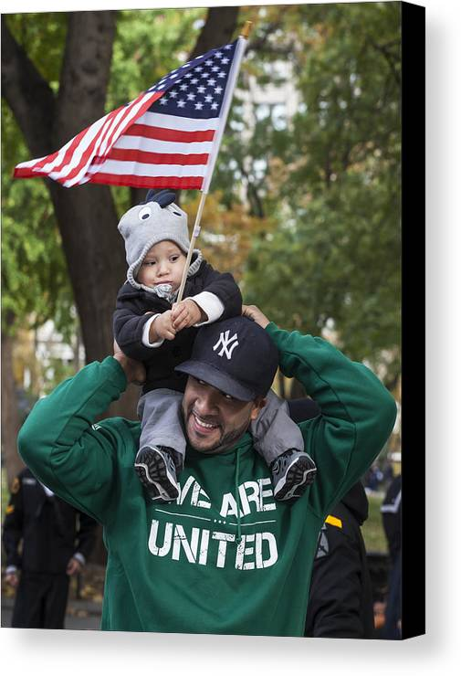 Veterans Day Nyc 11_11_13 Canvas Print featuring the photograph Veterans Day Nyc 11_11_13 by Robert Ullmann