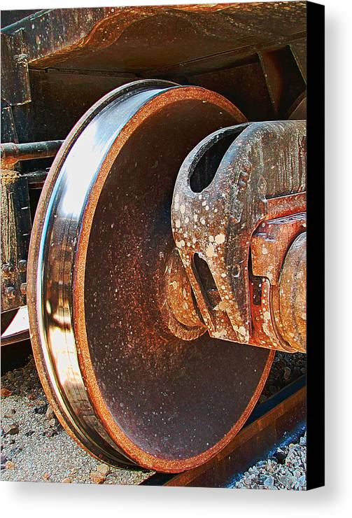 Train Canvas Print featuring the photograph What Lies Beneath by Wendy J St Christopher