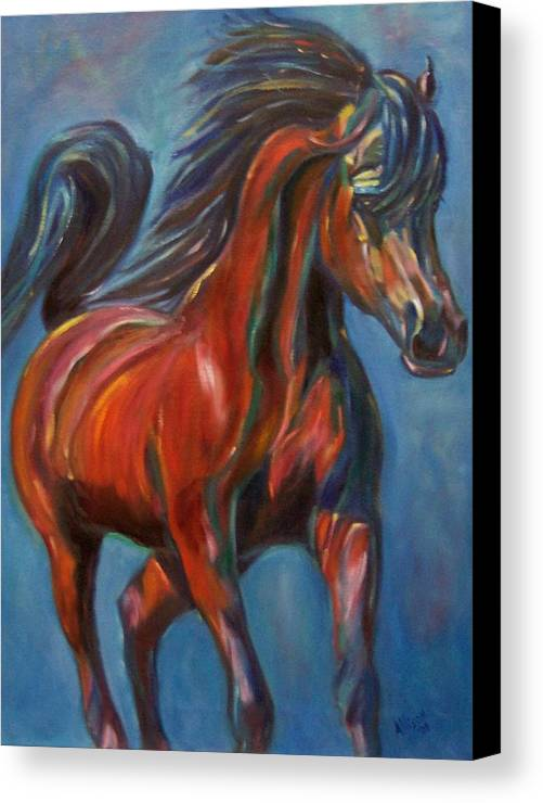 Horse Canvas Print featuring the painting Windstalker by Stephanie Allison