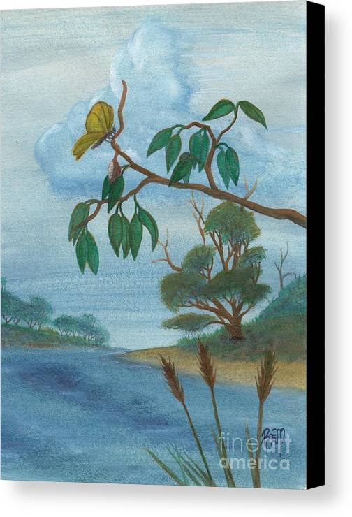 Watercolor Canvas Print featuring the painting With New Wings by Robert Meszaros