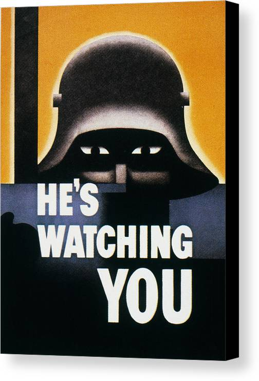 1942 Canvas Print featuring the photograph Wwii: Propaganda Poster by Granger