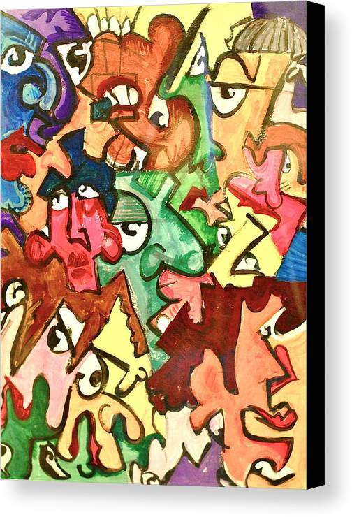 Eye Canvas Print featuring the painting A Face In The Crowd by Jame Hayes