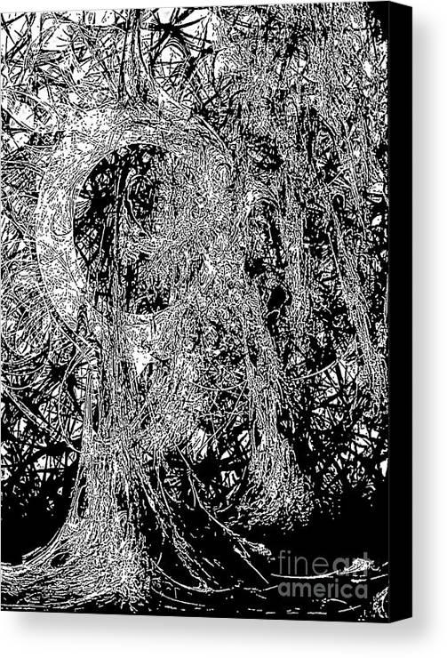 Graphics Canvas Print featuring the digital art Abs 0284 by Marek Lutek