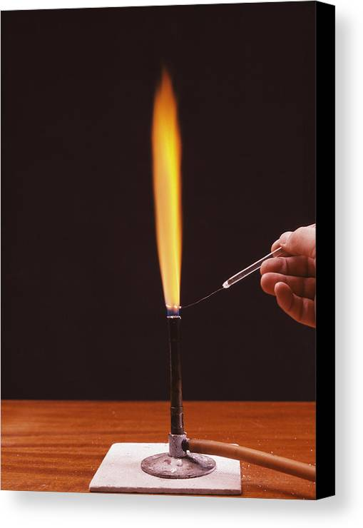 Calcium Canvas Print featuring the photograph Calcium Flame Test by Andrew Lambert Photography
