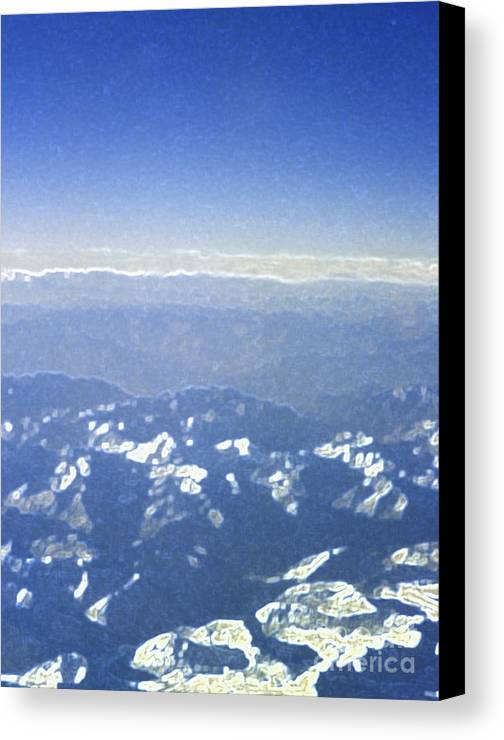 First Star Art By Jrr Canvas Print featuring the photograph Himalayas Blue by First Star Art