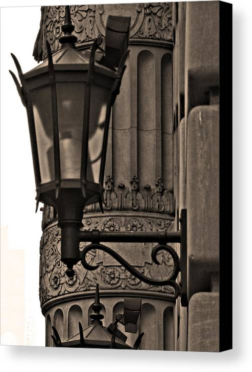 Scone Canvas Print featuring the photograph New York Sconces by Mamie Thornbrue