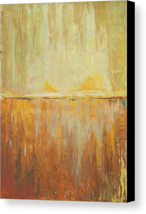Abstract Canvas Print featuring the painting Splash Horizen by Kaata  Mrachek