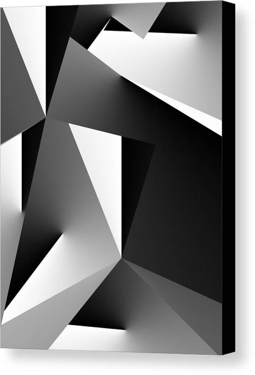 Fine Art Canvas Print featuring the digital art Study In Black And White 103012 by David Lane