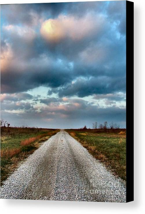 Julie Dant Photography Canvas Print featuring the photograph The Road To Somewhere by Julie Dant